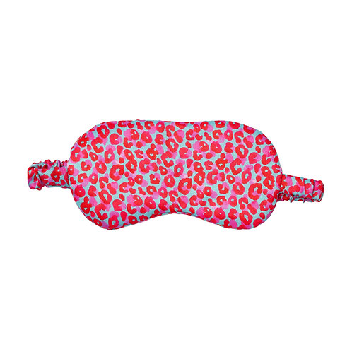 Leopard Jungle Pink | Satin Eye Mask
