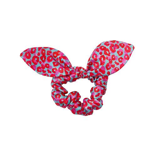 Leopard Jungle Pink | Satin Bow Scrunchie