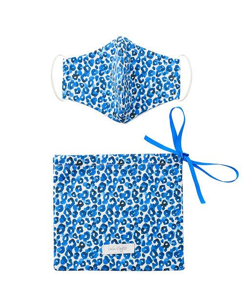 Leopard Jungle Cobalt | Face Mask & Ribbon Dust Bag Gift Set