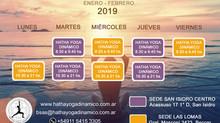 Horarios de Verano - Enero Febrero 2019