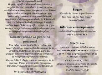 Taller de Ashtanga Vinyasa Yoga