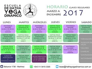 Lunes 6 de Marzo - Horarios Nuevos!!