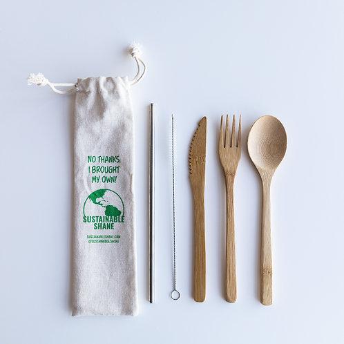 Bamboo Utensil Kit