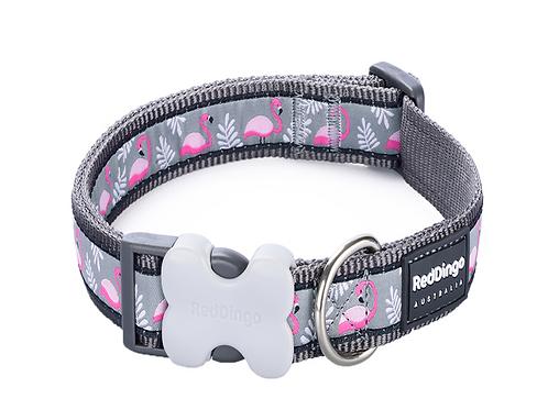 Red Dingo Adjustable Collar - Flamingo Grey