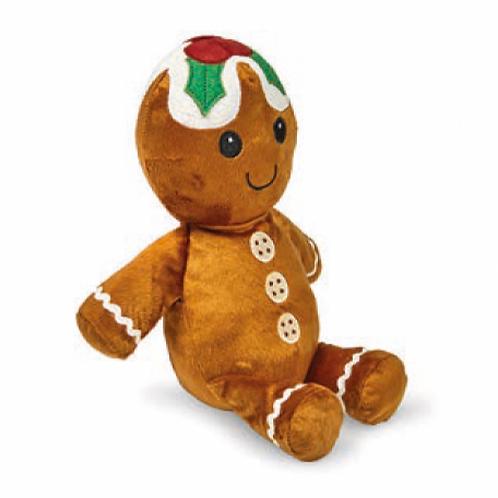 Festive Plush Gingerbread Man by Petface
