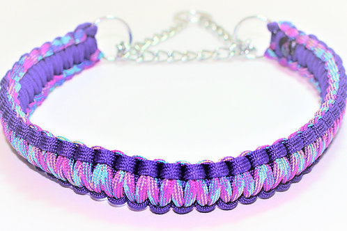 Paracord Martingale Collar - Purple Multi - Neck Size 14-17.5""