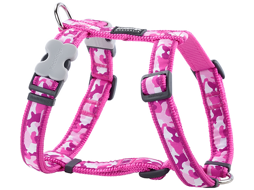Red Dingo Adjustable Harness - Camouflage Hot Pink