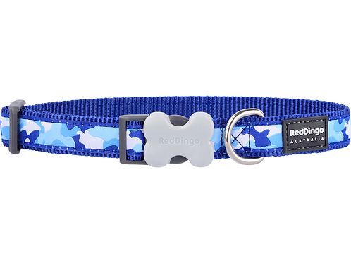 Red Dingo Adjustable Collar - Camouflage Navy
