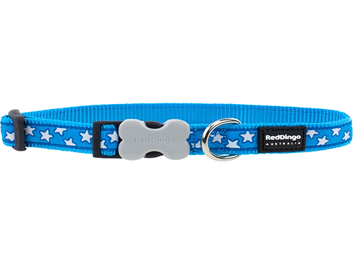 Red Dingo Adjustable Collar - Turquoise/White Stars