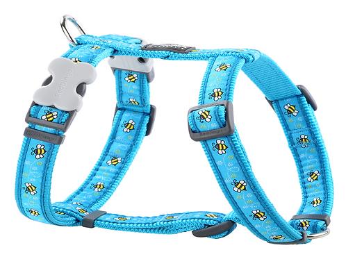 Red Dingo Adjustable Harness - Bumblebee Turquoise