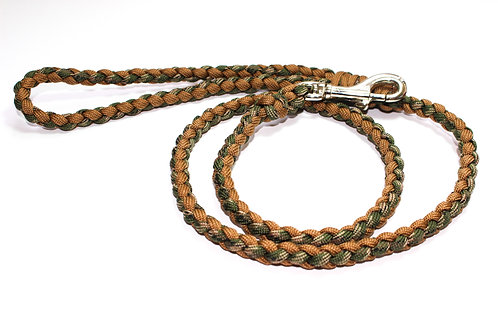 """Paracord Lead - Camouflage Green - 36"""""""
