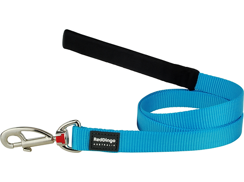 Red Dingo Lead - 1.2m/4ft - Classic Turquoise