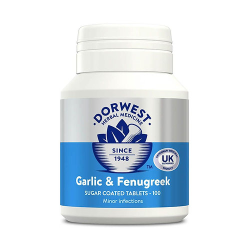 Dorwest Garlic and Fenugreek Tablets - 100 tablets