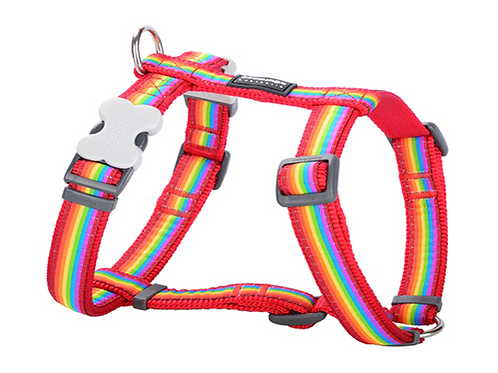 Red Dingo Adjustable Harness - Rainbow Red