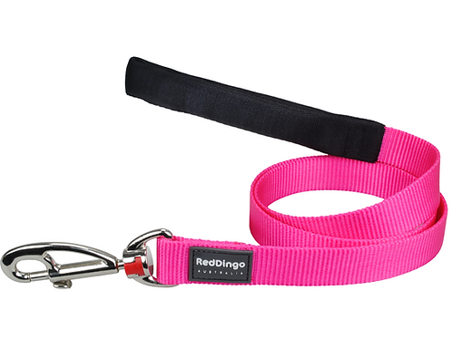 Red Dingo Lead - 1.2m / 4ft - Classic Hot Pink