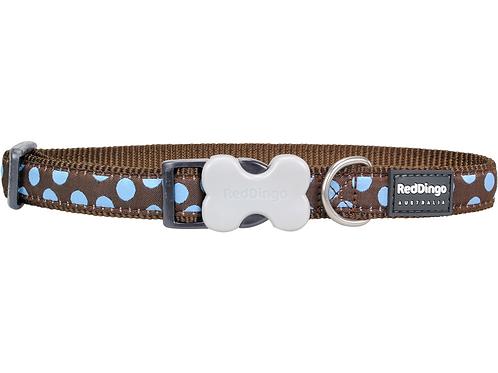 Red Dingo Adjustable Collar - Brown/Blue Spots