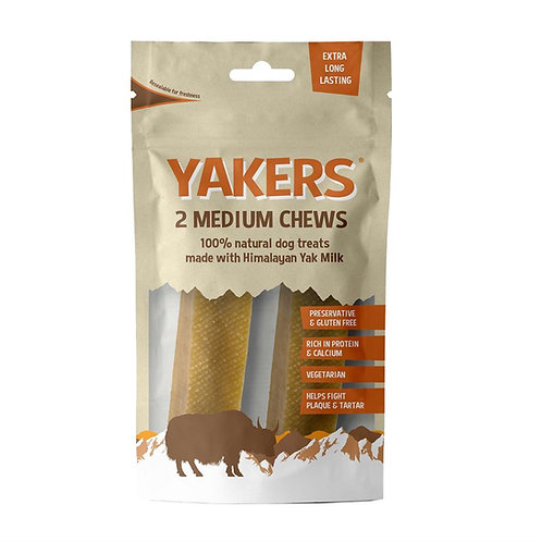 Yakers Chew Bars x 2 - Medium - Made with Himalayan Yak Milk - 130g