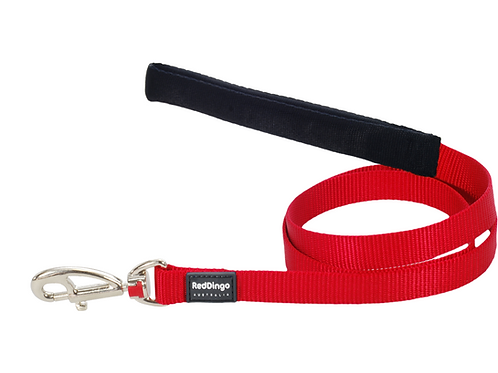 Red Dingo Lead - 1.2m/4ft - Classic Red