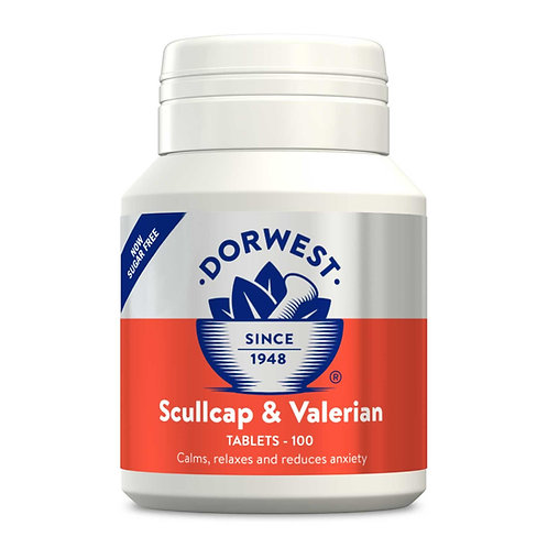 Dorwest Scullcap & Valerian Tablets - 100,  200 or 500 Tablets