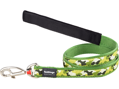 Red Dingo Lead - 1.2m / 4ft - Camouflage Green