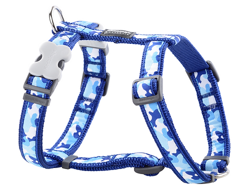 Red Dingo Adjustable Harness - Camouflage Navy