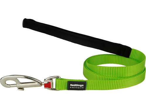 Red Dingo Lead - 1.2m/4ft - Classic Lime Green