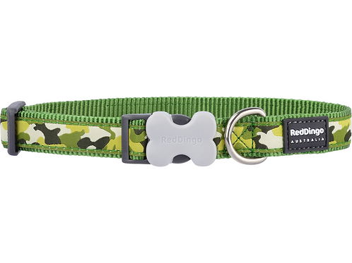 Red Dingo Adjustable Collar - Camouflage Green