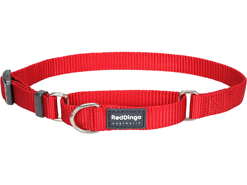 Red Dingo Half Check / Martingale Collar - Classic Red