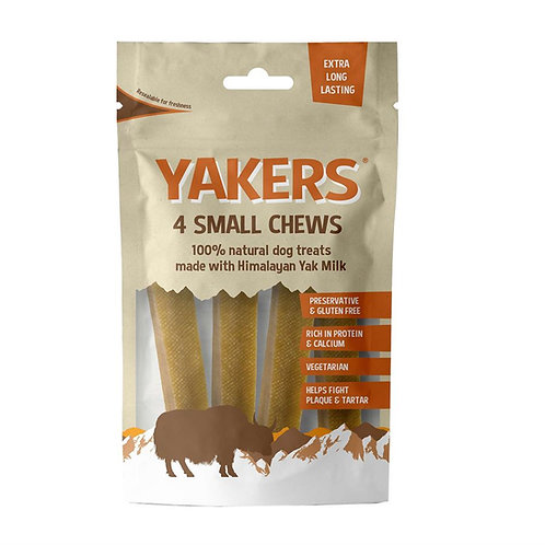 Yakers Chew Bars x 4 - Small - Made with Himalayan Yak Milk - 120g