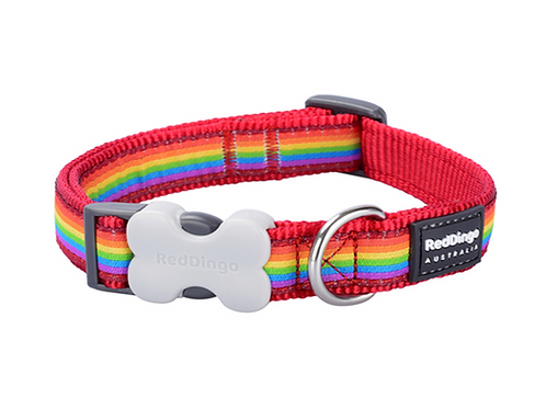 Red Dingo Adjustable Collar - Rainbow Red