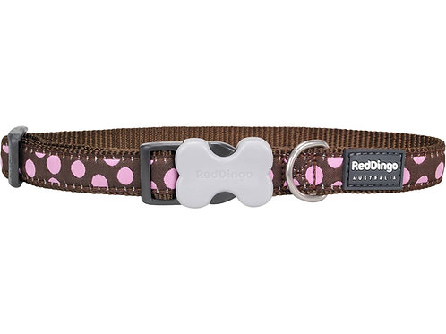 Red Dingo Adjustable Collar - Brown/Pink Spots