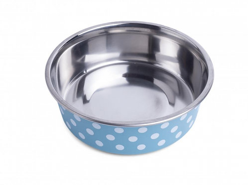Deli Bowl - Turquoise/White Spots by Petface