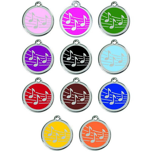 Red Dingo ID Tag - Stainless Steel/Enamel - Music - Various Sizes