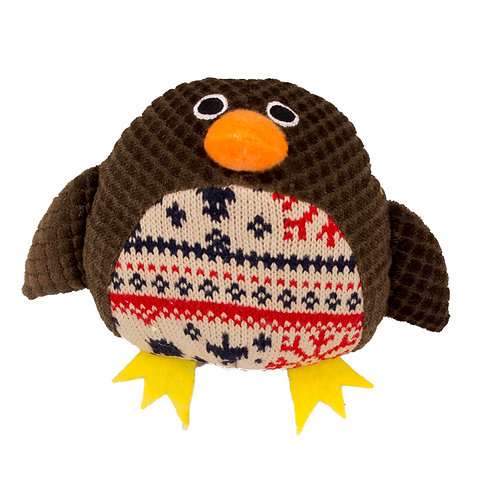 Christmas Plush Squeaky Robin by Pet Brands
