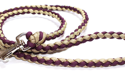 """Paracord Lead - Mulberry and Tan - 36"""""""