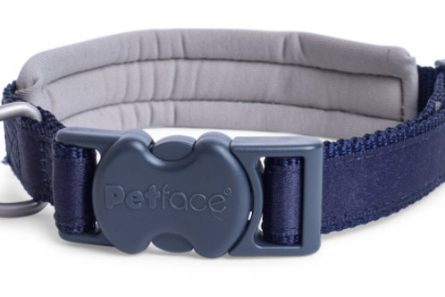 Outdoor Paws Blue Neoprene Adjustable Collar by Petface