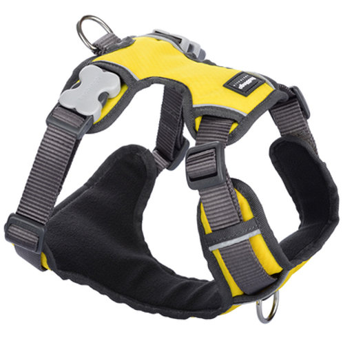 Red Dingo Adjustable Padded Harness - Yellow