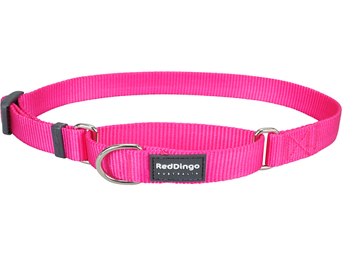 Red Dingo Half Check / Martingale Collar - Classic Hot Pink