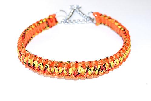 "Paracord Martingale Collar - Orange Multi - Neck Size 16-20"""