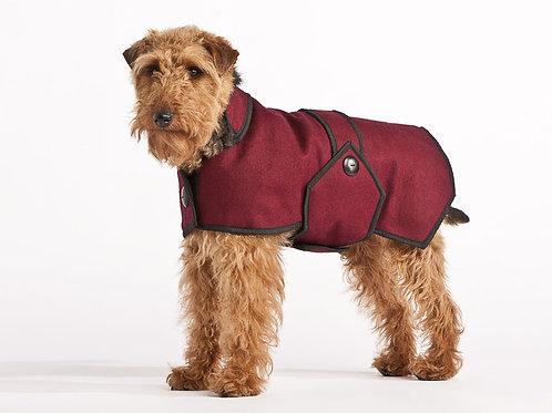 Wool Blazer Coat - Maroon