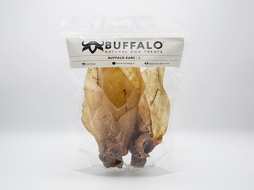 Sniffers Pet Care Natural Buffalo Ears x4 - Large