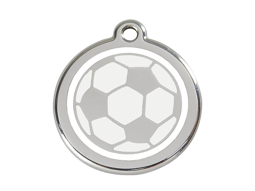 Red Dingo ID Tag - Stainless Steel/Enamel - Football - Various Sizes