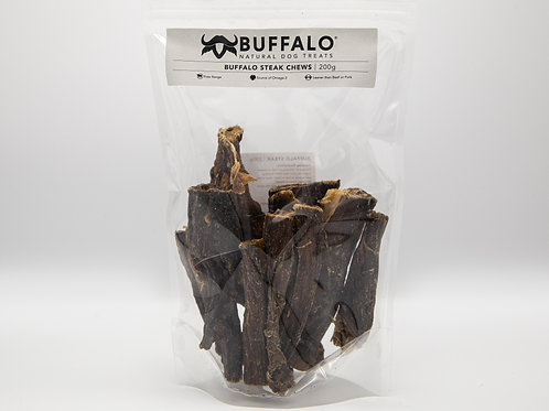 Buffalo Steak Chews from Sniffers - 100g