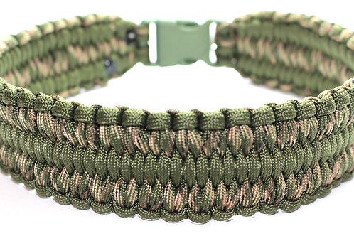 "Paracord Collar / Sighthound Collar - Camoflague Green - Neck Size 17.5""/44cm"