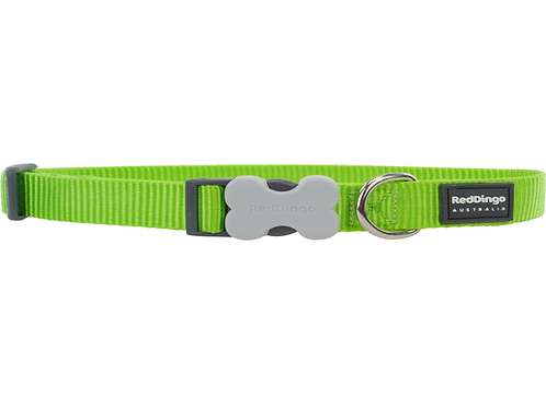 Red Dingo Adjustable Collar - Classic Lime Green