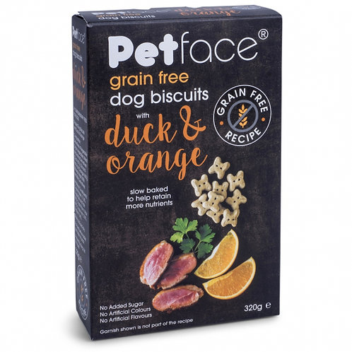 Petface Grain Free Dog Biscuits with Duck and Orange