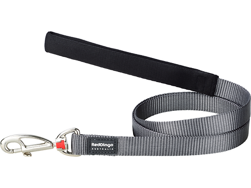 Red Dingo Lead - 1.2m / 4ft - Classic Cool Grey