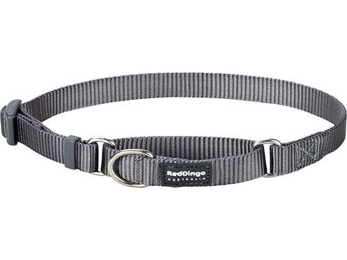 Red Dingo Half Check / Martingale Collar - Classic Cool Grey