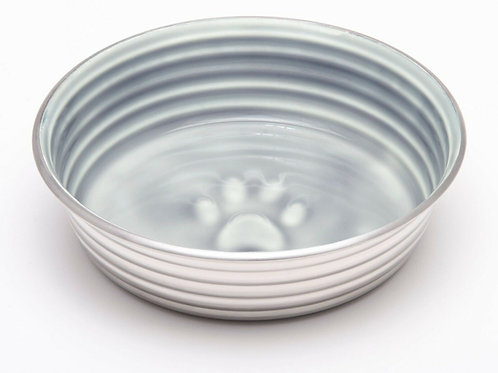 Stainless Steel Dog Bowl with Grey Ceramic like Inner by Le Bol