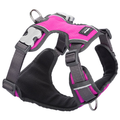 Red Dingo Adjustable Padded Harness - Hot Pink